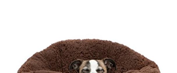 Best Friends by Sheri OrthoComfort Deep Dish Cuddler in Sherpa, Brown, 20″x20″x12″