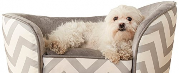 Enchanted Home Pet Snuggle Pet Sofa Bed, 26.5 by 16 by 16-Inch, Gray