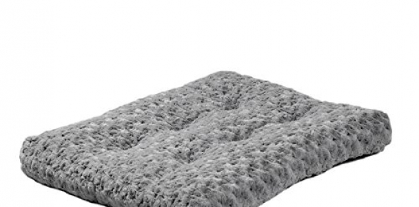 MidWest Quiet Time Pet Bed Deluxe Gray Ombre Swirl 23″ x 18″