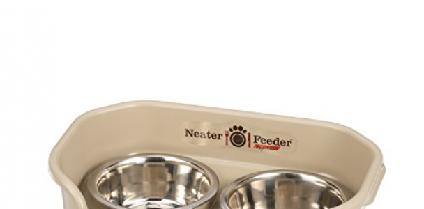 Neater Feeder Express (Small Dog) – With Stainless Steel, Drip Proof, No Tip and Non Slip Dog Bowls and Mess Proof Pet Feeder