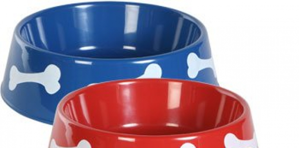 TBC HOME DECOR Round Plastic Pet Bowls – 9 3/4 inch – 3 color set