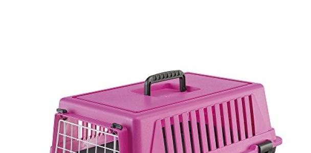 Ferplast Atlas 10 Cat and Dog Carrier, Fuchsia Pink