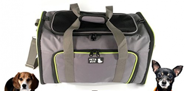Pet Carrier for Dogs & Cats – Airline Approved Premium Expandable Soft Animal Carriers – Portable Soft-Sided Air Travel Bag – Best for Small or Medium Dog and Cat – Fits Under Front Airplane Seat …
