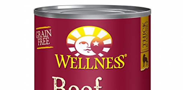 Wellness Thick & Chunky Natural Wet Grain Free Canned Dog Food, Beef Stew, 12.5-Ounce Can (Pack of 12)
