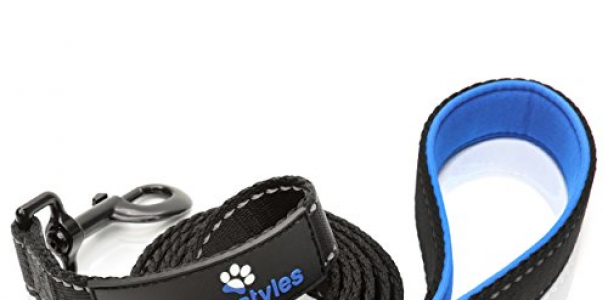 Extra Heavy Duty Dog Leash by Paw Lifestyles – 3mm Thick – 6ft Long, Soft Padded Handle For Comfort – Perfect Leash for Medium and Large Dogs