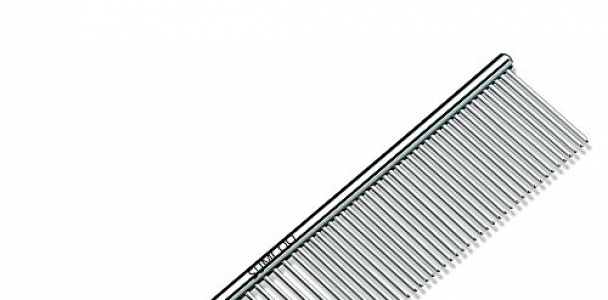 SUMCOO Stainless Steel Pet Dog & Cat Shedding Comb and Grooming Comb with Different Spaced Rounded Teeth,Wide Trimmer Comb. (WHITE)