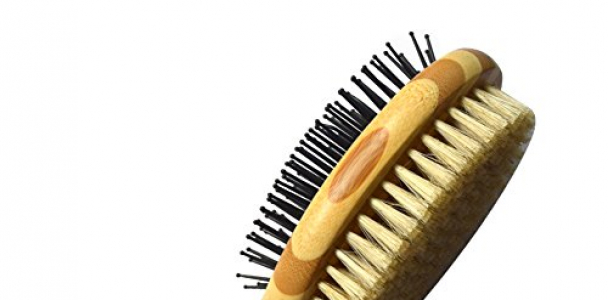 HaloVa Pet Comb, Professional Double Sided Pin & Bristle Bamboo Brush for Dogs & Cats, Grooming Comb Cleans Pets Shedding & Dirt for Short Medium or Long Hair