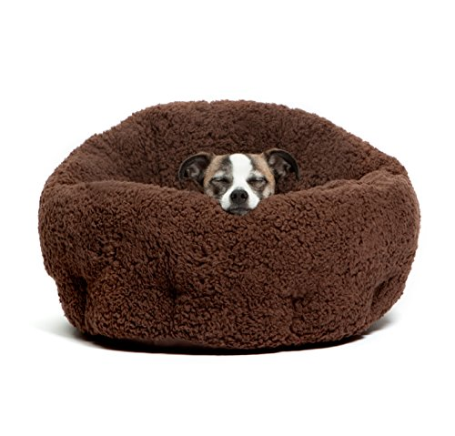 Best Friends by Sheri OrthoComfort Deep Dish Cuddler in Sherpa, Brown, 20