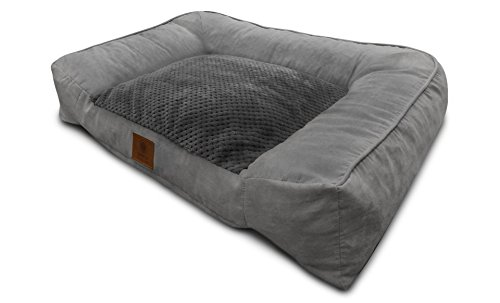 American Kennel Club Memory Foam Sofa Pet Bed, X-Large, Gray
