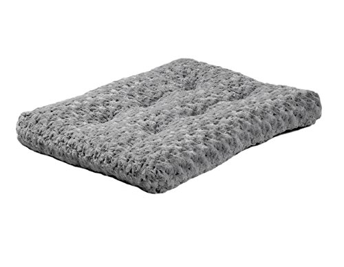 MidWest Quiet Time Pet Bed Deluxe Gray Ombre Swirl 23