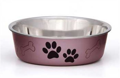 Loving Pets Metallic Bella Bowl, Medium, Grape