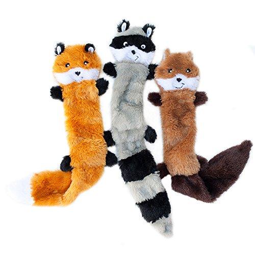 ZippyPaws Skinny Peltz No Stuffing Squeaky Plush Dog Toy, Large