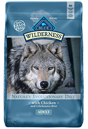 BLUE Wilderness Adult Grain-Free Chicken Dry Dog Food 24-lb