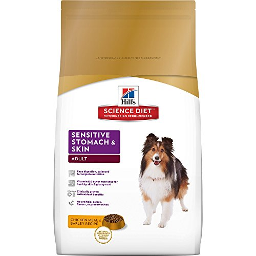 Hill's Science Diet Adult Sensitive Stomach & Skin Chicken Meal & Barley Recipe Dry Dog Food, 30 lb bag