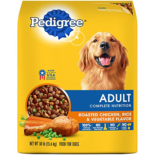 PEDIGREE Adult Complete Nutrition Roasted Chicken, Rice & Vegetable Flavor Dry Dog Food 30 Pounds