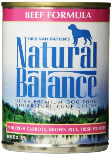 Natural Balance Ultra Premium Canned Dog Food, Beef Formula, 13-Ounce (Pack of 12)