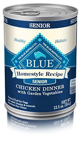 BLUE Homestyle  Senior Chicken Wet Dog Food 12.5-oz (Pack of 12)