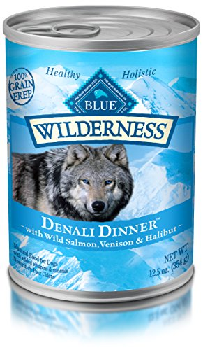 BLUE Wilderness Grain-Free Denali with Wild Salmon, Venison & Halibut Wet Dog Food 12.5-oz (pack of 12)