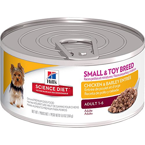 Hill's Science Diet Adult Small & Toy Breed Chicken & Barley Entr�e Canned Dog Food, 5.8 oz, 24-pack