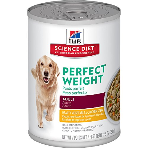 Hill's Science Diet Adult Perfect Weight Hearty Vegetable & Chicken Stew Dog Food, 12.5 oz, 12-Pack