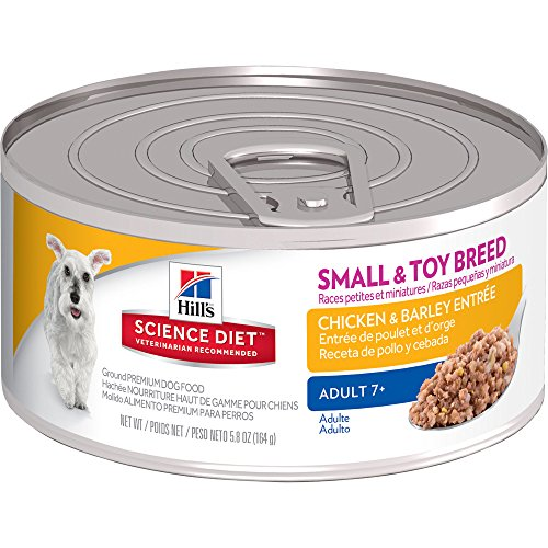 Hill's Science Diet Adult 7  Small & Toy Breed Chicken & Barley Entr�e Canned Dog Food, 5.8 oz, 24-pack