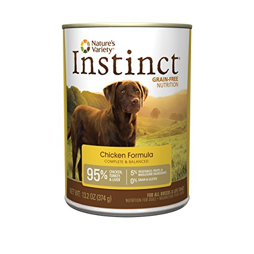 Instinct Grain Free Chicken Formula Natural Wet Canned Dog Food by Nature's Variety, 13.2 oz. Cans (Case of 12)