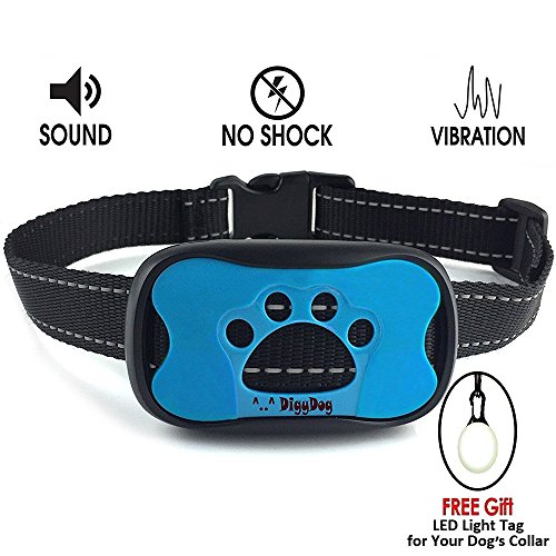 No Bark Collar S / M / L , No Shock Vibration & Sound Humane Training Device , Control Your Pet With Anti Barking Dog Collars