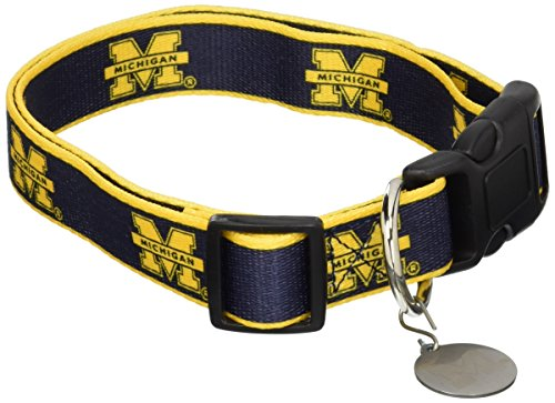 NCAA Michigan Wolverines Dog Collar, Medium/Large  - New Design