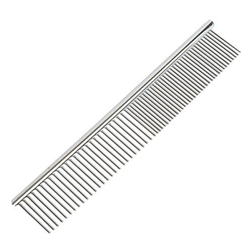 Fypo Pet Combs, Shedding Brush Grooming Tool Fine Coarse Pins Rounded Teeth Trimmer Remove Fleas,Mites,Ticks,Dandruff Flakes (Pet Comb)